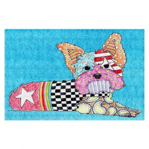 Decorative Floor Coverings | Marley Ungaro Yorkie Dog Aqua