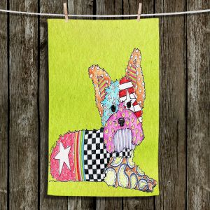 Unique Bathroom Towels | Marley Ungaro - Yorkie Dog Lime