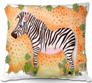 Throw Pillows Decorative Artistic | Marley Ungaro Zebra Orange