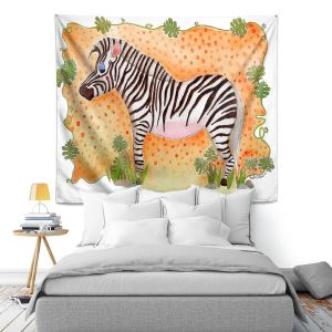 Artistic Wall Tapestry | Marley Ungaro Zebra Orange