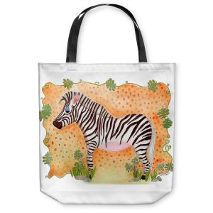 Unique Shoulder Bag Tote Bags | Marley Ungaro Zebra Orange