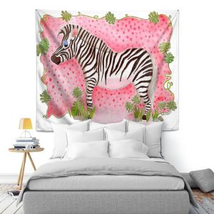 Artistic Wall Tapestry   Marley Ungaro Zebra Raspberry