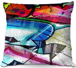 Decorative Outdoor Patio Pillow Cushion | Martin Taylor - Graffiti 10 | Urban City Paint