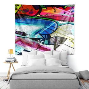 Artistic Wall Tapestry | Martin Taylor - Graffiti 10 | Urban City Paint