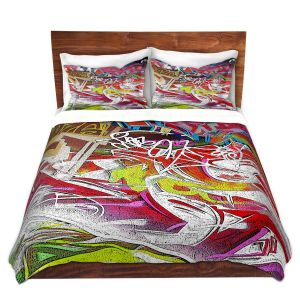 Artistic Duvet Covers and Shams Bedding | Martin Taylor - Graffiti 3 | Urban City Paint