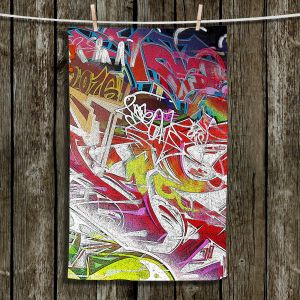 Unique Hanging Tea Towels | Martin Taylor - Graffiti 3 | Urban City Paint