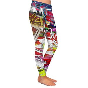 Casual Comfortable Leggings | Martin Taylor - Graffiti 3 | Urban City Paint