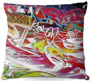 Decorative Outdoor Patio Pillow Cushion | Martin Taylor - Graffiti 3 | Urban City Paint