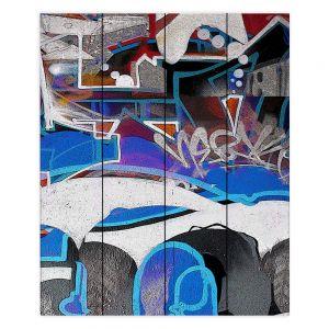 Decorative Wood Plank Wall Art | Martin Taylor - Graffiti 6 | Urban City Paint