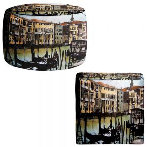 Round and Square Ottoman Foot Stools | Martin Taylor - Views Over Venice