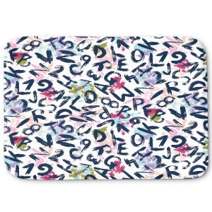 Decorative Bathroom Mats | Metka Hiti - ABC | Alphabet Art
