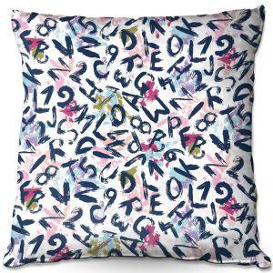 Decorative Outdoor Patio Pillow Cushion | Metka Hiti - ABC | Alphabet Art