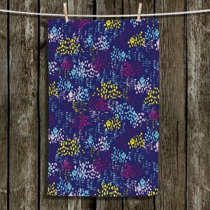 Unique Bathroom Towels | Metka Hiti - Abstract Dots and Lines Blue