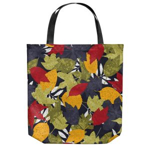 Unique Shoulder Bag Tote Bags | Metka Hiti - Autumn Leafs | Leaves Patterns