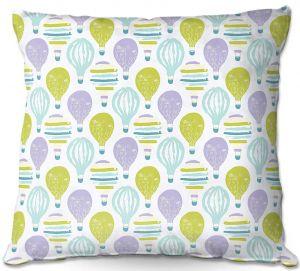 Decorative Outdoor Patio Pillow Cushion | Metka Hiti - Balloons