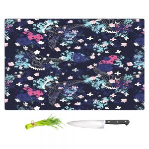 Artistic Kitchen Bar Cutting Boards | Metka Hiti - Birds | Bird Pattern