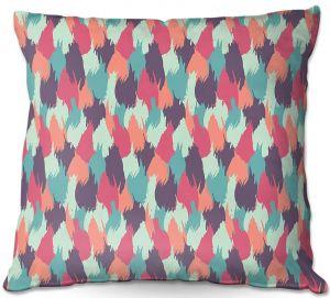 Decorative Outdoor Patio Pillow Cushion | Metka Hiti - Brush Strokes