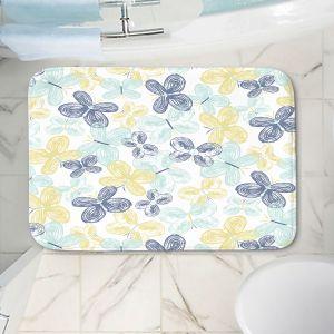 Decorative Bathroom Mats | Metka Hiti - Brushed Butterflies | Butterfly Pattern