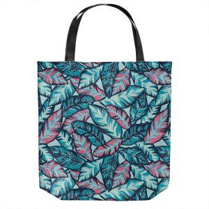 Unique Shoulder Bag Tote Bags | Metka Hiti - Brushed Leafs | Nature Leaves