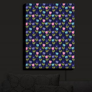 Nightlight Sconce Canvas Light | Metka Hiti - Bugs Tulips | Floral Flowers pattern