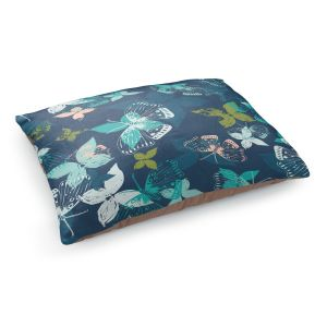 Decorative Dog Pet Beds | Metka Hiti - Butterflies Blue