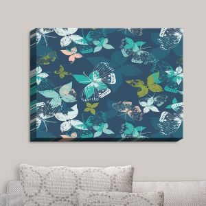 Decorative Canvas Wall Art   Metka Hiti - Butterflies Blue   Butteflies