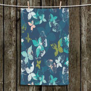 Unique Hanging Tea Towels | Metka Hiti - Butterflies Blue | Butteflies