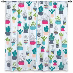 Decorative Window Treatments | Metka Hiti - Cacti with Pots | Cactus