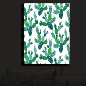 Nightlight Sconce Canvas Light | Metka Hiti - Cactus Green
