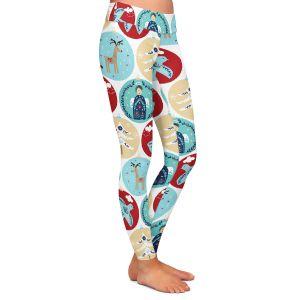 Casual Comfortable Leggings | Metka Hiti - Christmas Bubbles