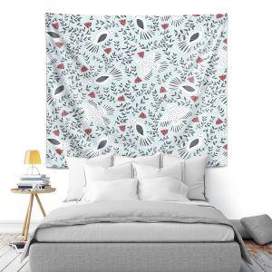 Artistic Wall Tapestry | Metka Hiti - Christmas Dove | Christmas Birds