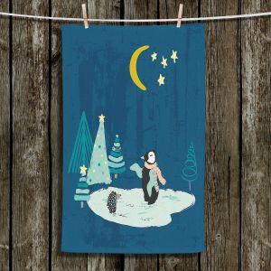Unique Bathroom Towels   Metka Hiti - Christmas Penguin