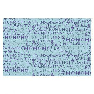 Decorative Floor Covering Mats   Metka Hiti - Christmas Text   Holiday xmas typography graphic