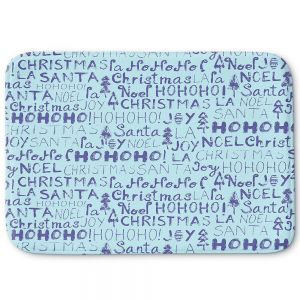 Decorative Bathroom Mats | Metka Hiti - Christmas Text | Holiday xmas typography graphic
