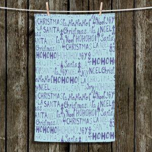 Unique Bathroom Towels   Metka Hiti - Christmas Text   Holiday xmas typography graphic