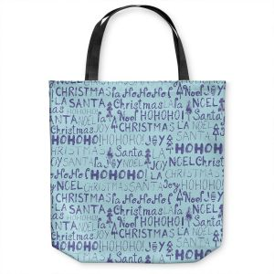 Unique Shoulder Bag Tote Bags | Metka Hiti - Christmas Text | Holiday xmas typography graphic