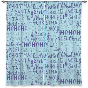 Decorative Window Treatments | Metka Hiti - Christmas Text | Holiday xmas typography graphic