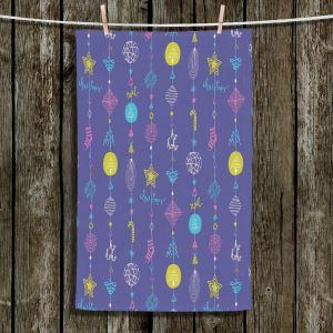 Unique Hanging Tea Towels | Metka Hiti - Christmas Town Ornaments | Holiday xmas decoration pattern