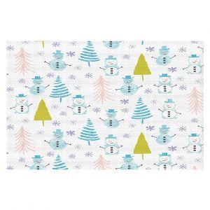 Decorative Floor Covering Mats   Metka Hiti - Christmas Town Snowman   Holiday xmas nature winter cold