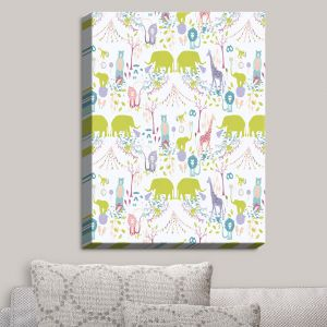 Decorative Canvas Wall Art | Metka Hiti - Circus Pastel | Animals Circus