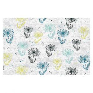 Decorative Floor Covering Mats   Metka Hiti - Dandelion   Floral Flowers pattern