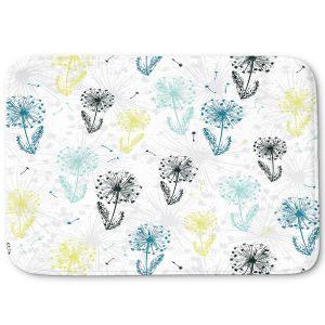 Decorative Bathroom Mats | Metka Hiti - Dandelion | Floral Flowers pattern