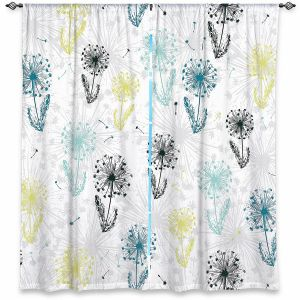 Decorative Window Treatments | Metka Hiti - Dandelion | Floral Flowers pattern