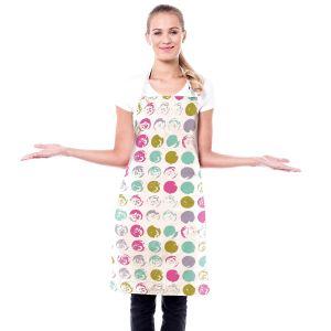 Artistic Bakers Aprons | Metka Hiti - Dots Violet Magenta | Patterns Dot