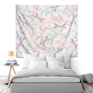 Artistic Wall Tapestry | Metka Hiti - Dragonflies