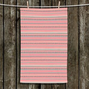 Unique Hanging Tea Towels | Metka Hiti - Dreamy Lines Pink | Patterns Lines