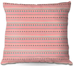 Decorative Outdoor Patio Pillow Cushion | Metka Hiti - Dreamy Lines Pink
