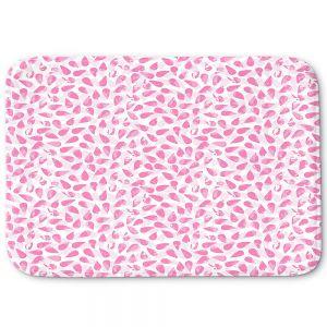 Decorative Bathroom Mats | Metka Hiti - Drops of Jupiter Pink | Pattern abstract dots circle
