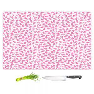 Artistic Kitchen Bar Cutting Boards | Metka Hiti - Drops of Jupiter Pink | Pattern abstract dots circle