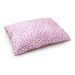 Decorative Dog Pet Beds | Metka Hiti - Drops of Jupiter Pink | Pattern abstract dots circle